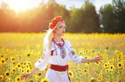 Young Ukraine women